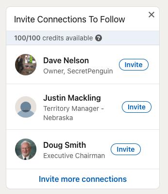 Linkedin: Invite Connections